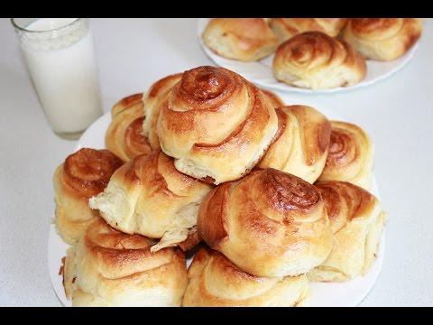 Сдобные домашние булочки,мягкие,вкусные. Простой рецепт видео