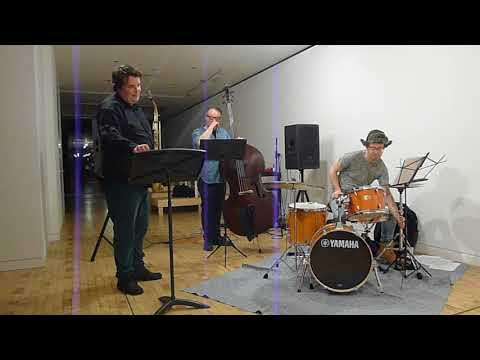 performing in a jazz trio