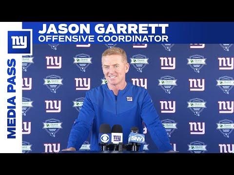 Jason Garrett on Kadarius Toney's Instincts   New York Giants