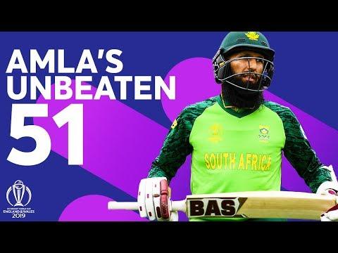 Hashim Amla's Unbeaten 51 in Warm-up Game | ICC Cricket World Cup 2019