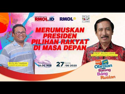 FRONT PAGE - Merumuskan Presiden Pilihan Rakyat di Mada Depan