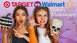 HALLOWEEN ROOM MAKEOVER SHOPPING CHALLENGE (WALMART vs TARGET)💀🎃| Piper Rockelle