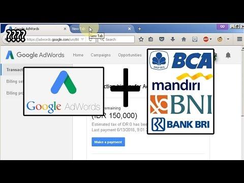 Isi Saldo Google Adwords Lewat Internet Banking. Tanpa Kartu Kredit
