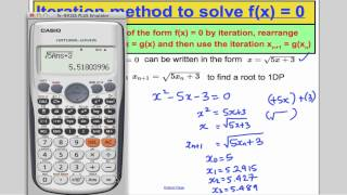 A-Level Maths Edexcel Numerical Methods - Iteration (L9) Core ...