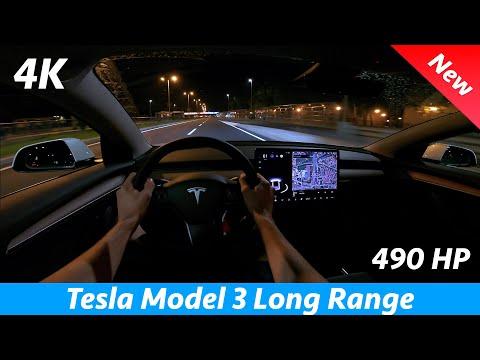 Tesla Model 3 Long Range 2021 Refresh - Night POV drive & FULL review in 4K |Matrix LED, 0 - 100