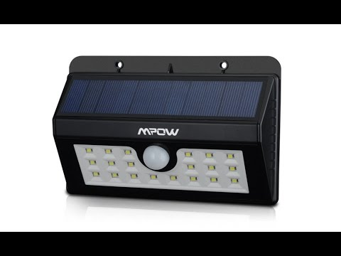 Review MPOW Helios Luz solar patio