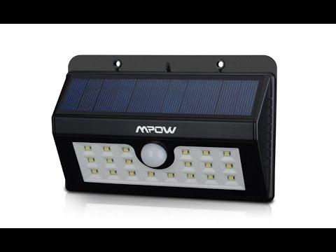 Review MPOW Helios Luz solar patio
