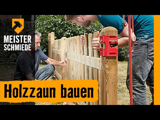 Holzzaun bauen