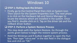 Steps to  Fix  irql not less or equal windows 10
