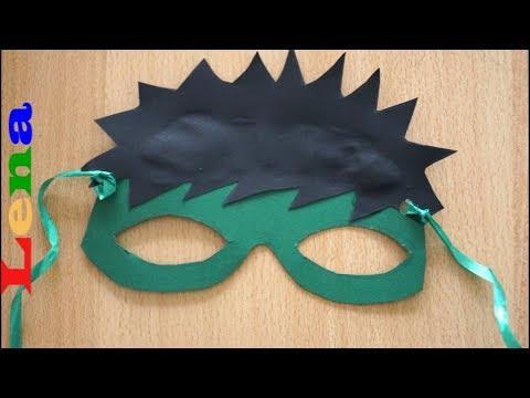 Hulk Maske basteln ✂ How to make Hulk mask for kids 🎭 как сделать халка ✂ маска из бумаги