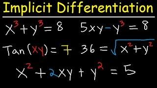 Implicit Differentiation Explained - Product Rule, Quotient & Chain Rule - Calculus