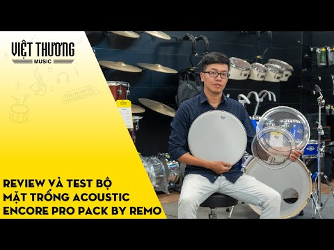 Review và test bộ mặt trống Encore Pro Pack by Remo