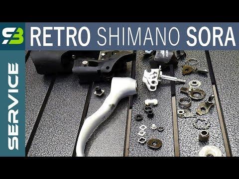 Vintage Shimano Sora ST-R3300 8s Shifter - FULL Disassembly & Assembly.