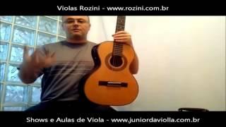 Violeiro Junior da Violla testa a viola Cinturada Presença Brasil ROZINI RV 215