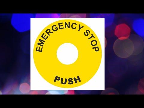 Emergency Stop Sticker for Door