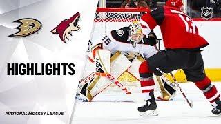 NHL Highlights | Ducks @ Coyotes 1/2/20