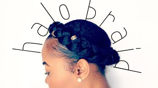 How To: Halo Braid Tutorial On Short/Medium Natural Hair | Easy Protective Style | Kinzey Rae