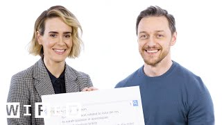James McAvoy & Sarah Paulson Answer The Webs Most Searched Questions | WIRED