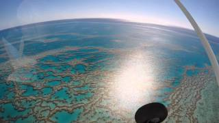 Scenic flight over the Whitsunday Islands and the Great Barrier Reef