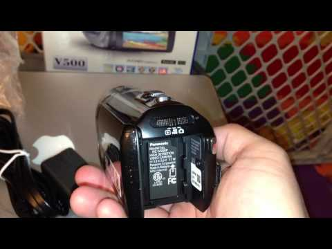 Panasonic HC-V500 1080P HD Camcorder Unboxing & Video Test