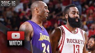 James Harden vs Kobe Bryant EPIC Duel Highlights (2016.04.10) Rockets vs Lakers - MUST Watch!