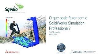 O que pode fazer com o SolidWorks Simulation Professional?