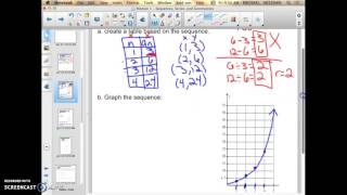 Module 1 - Using tables and graphs with sequences