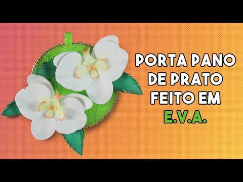 Porta pano - Orquídeas