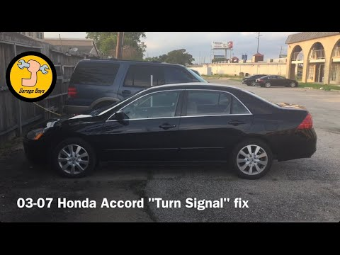 How To Fix The Turn Signals On A 03-07 Honda Accord