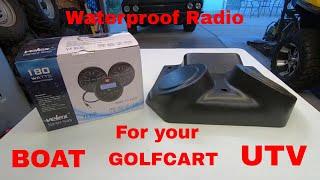 Velex waterproof radio/speaker install and  Review