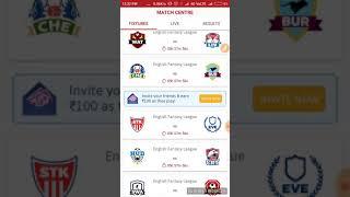 STK VS EVE EFL DREAM 11 England Fantasy League