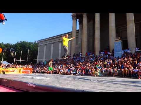 World Slackline Masters 2015 TeamBattle... Vaya virguerias 1