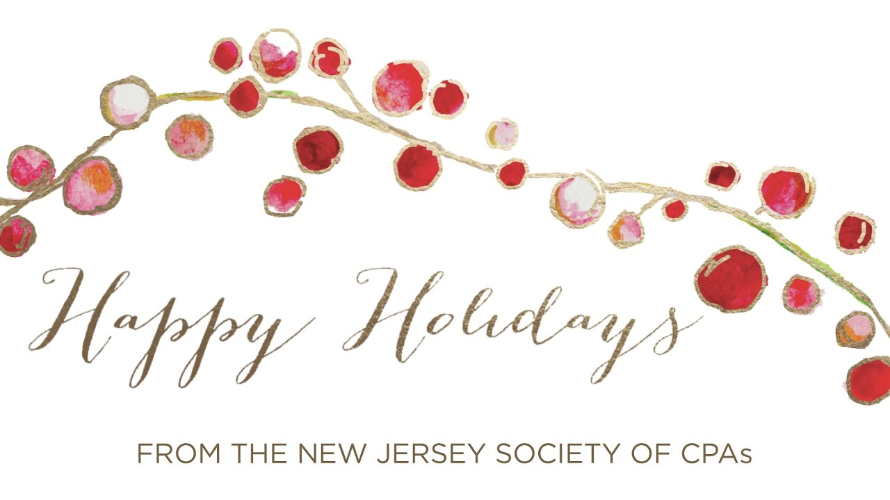 Happy Holidays from the NJCPA