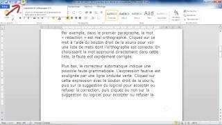 [3.1.2] Utiliser les outils de correction et d'aide à la rédaction