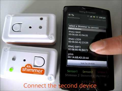 Shimmer Java / Android API   Stream data to Android devices