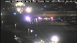 Westbound US 60 closed in Mesa for deadly crash investigation