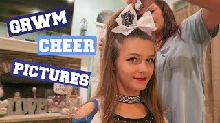 GET READY WITH ME/CHEER PICTURES!
