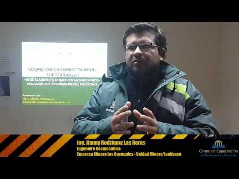 Testimonio del entrenamiento inhouse (Ing.Jimmy Rodriguez) - Geomecanica y Geotecnia