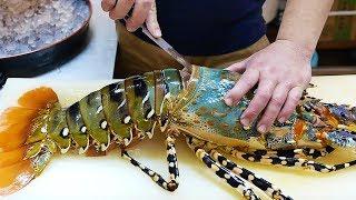 Makanan Jalanan Jepang - $600 Dolar Besar Sekali Pelangi Udang Laut Makanan Laut