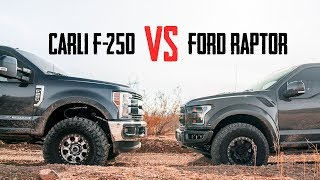 Carli Suspension F-250 VS Ford Raptor | Which Is Better In The Dirt?