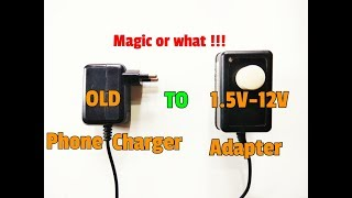 Upgrade Your Old Phone Charger And Easily Charge 1.5 Volt Battery..3.7 Volt..4 Volt..6 Volt Battery.