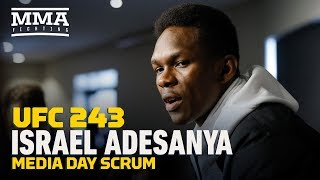 Israel Adesanya discusses his fame, his rise, UFC vs. boxing, when he might call it quits, and more during UFC 243 media day.  Subscribe: http://goo.gl/dYpsgH  Check out our full video catalog: http://goo.gl/u8VvLi Visit our playlists: http://goo.gl/eFhsvM Like MMAF on Facebook: http://goo.gl/uhdg7Z Follow on Twitter: http://goo.gl/nOATUI Read More: http://www.mmafighting.com Subscribe to the podcast: http://applepodcasts.com/mmahour  MMA Fighting is your home for exclusive interviews, live shows, and more for one of the world's fastest-growing sports. Get latest news and more here: http://www.mmafighting.com