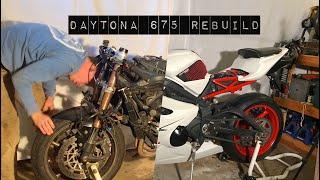 Daytona 675 Wrecked Bike Rebuild (Ducati Edition)