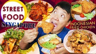 MUST TRY Singapore Street Food! WHITE PEPPER CRAB, Indonesian FRIED CHICKEN, & BUTTER Coffee