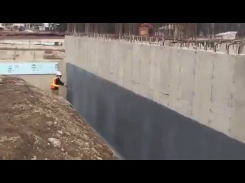This Video shows Graywall Waterproofing being installed on a Poured Concrete Foundation at the new Gretzky 99 Winery