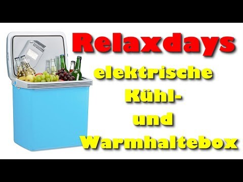 Relaxdays Kühlbox und elektrische Warmhaltebox Test