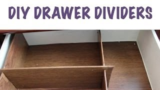 CHEAP ORGANIZING: DIY Drawer Dividers