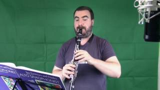 Jordon Ruwe - Alto Saxophone Jazz Etude No. 1 (on Clarinet)