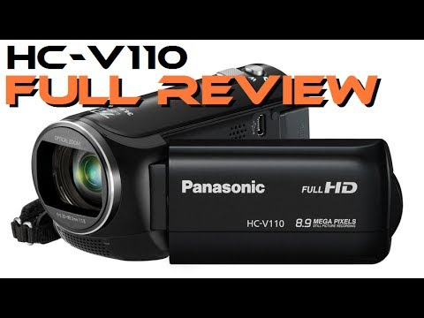 Panasonic HC-V110 camcorder unboxing, review & test
