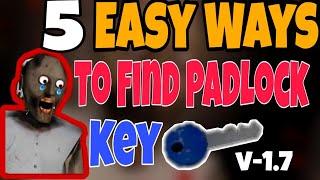 ALL LOCATION OF PADLOCK KEY IN GRANNY | GRANNY HORROR GAME | GAME TOWN